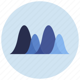charts, graph, presentation, waves icon
