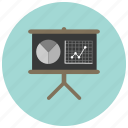 charts, graph, pie, presentation icon