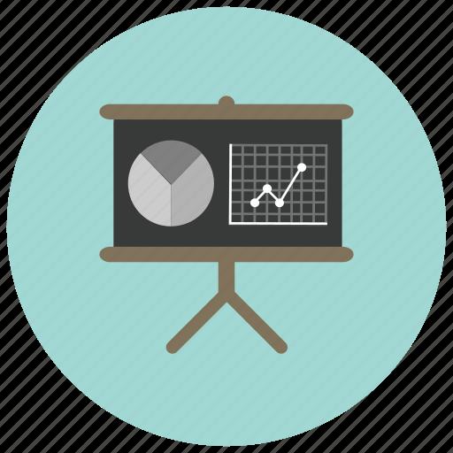 charts, graph, pie, presentation icon