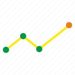 chart, data, linear icon