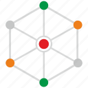 web, connection, data, chart