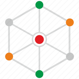 chart, connection, data, web icon