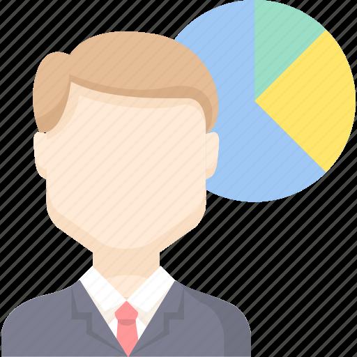analyst, business, chart, graph, presentation, statistics icon