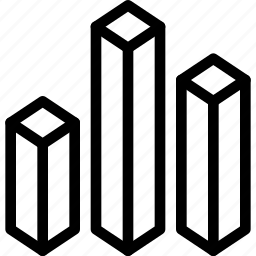 analytics, block-chart, blocks, chart, data, three-d, three-d-block-chart icon