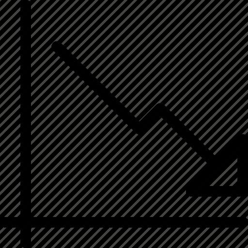 analytics, chart, data, decline, decreasing, decreasing-chart, line-icon icon