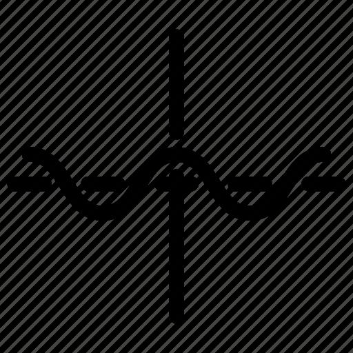 analytics, charts, curve, line-icon, sine-function, sinusoid, trigonometry icon