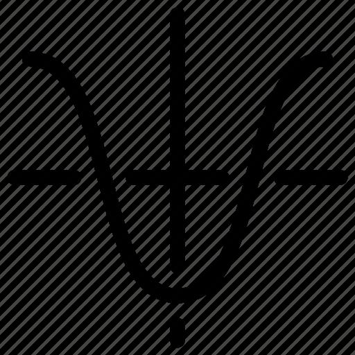 analytics, charts, data, graph, line-icon, parabola, tangent icon
