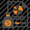 analytics, charts, dashboard, kpi, money, pie, report icon
