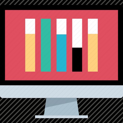 bars, data, mac, pc icon