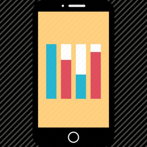data, diagram, mobile, phone icon