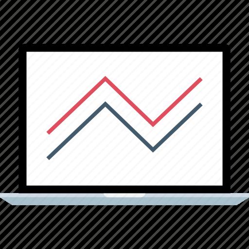 analytics, line, seo, web icon