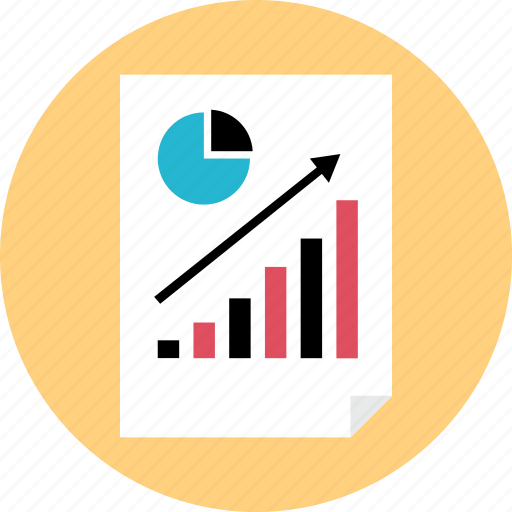 graph, page, report, study icon