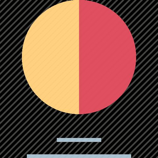 analytics, graph, half icon