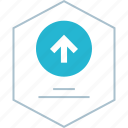 arrow, graph, report, up icon