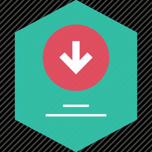 down, download, graph, report icon