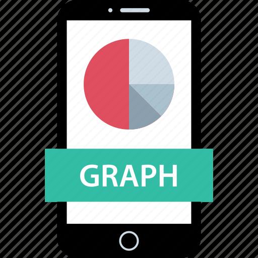 data, graph, mobile icon