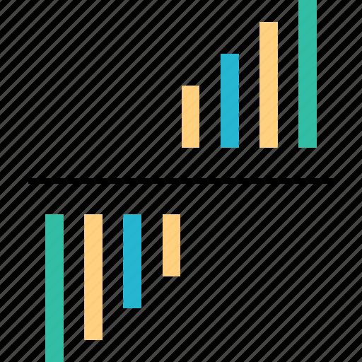 analytcs, bars, data, web icon