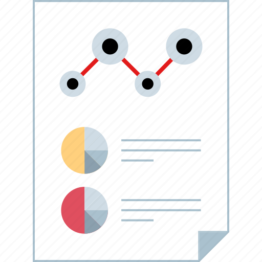 analytics, page, report icon