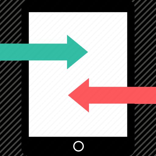 arrows, ipad, online icon