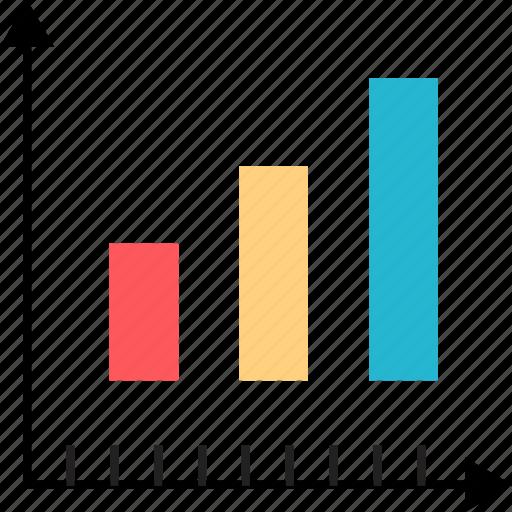 analytics, bars, data, web icon