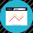 analytics, browser, web, www icon