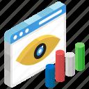 data analytics, data monitoring, data visualization, infographic, statistics icon