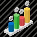 bar chart, data analytics, hexagon chart, infographic, statistics