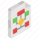 flowchart, flow diagram, workflow process, algorithm, sitemap icon