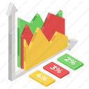 data analytics, infographic, mountain chart, mountain graph, statistics