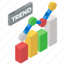data analytics, trend chart, statistics, trend analysis, infographic, trend graph icon