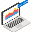 online data, area graph, financial graph, mountain chart, financial chart icon