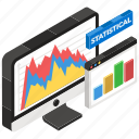 data analytics, data visualization, online graph, online infographic, statistical analysis icon