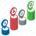 data analytics, statistics, timeline chart, timeline graph, timeline infographic icon