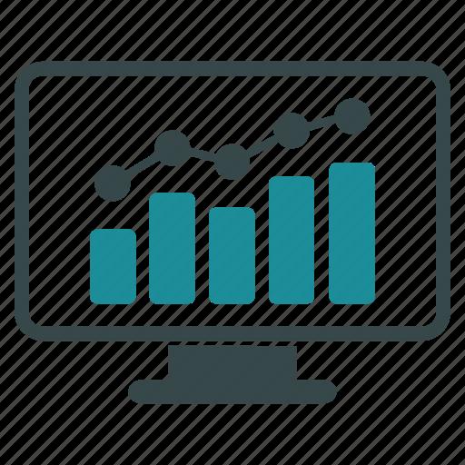 business, chart, computer, desktop, monitor, tv, video icon