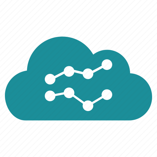 chart, cloud, data, graph, report, stock, trends icon