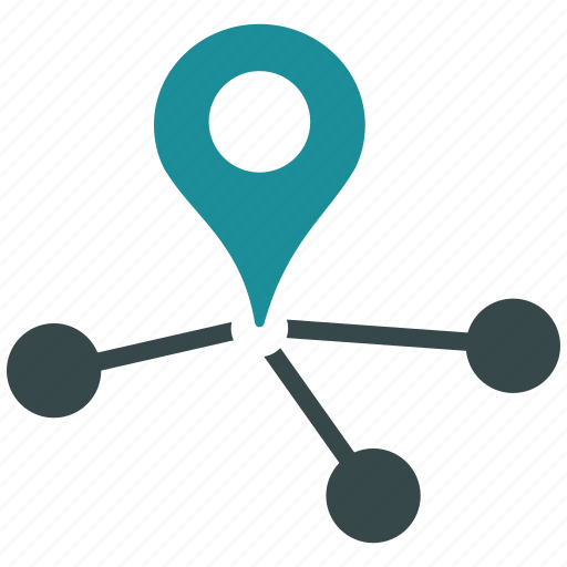 connection, geo, location, marketing, network, pointer, seo icon