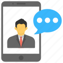 live call, mobile communication, online communication, video call, video message icon