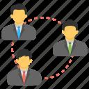 business team, management, organization, teamwork, work group icon