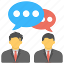 business discussions, communication, conversation, dialogue, discussion icon