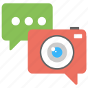 live chat, telepresence, video chat, video chat app, video conferencing, video telephony icon