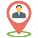 business bay, business mapping, business maps, business meetings location, businessman location icon