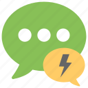 electronic message, emessage, instant message, online communication, text message icon