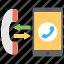 bluetooth landline, communication technology, mobile and landline, smartphone like a landline, transfer call from mobile to landline icon