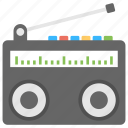 audio broadcasting, fm radio, radio, radio receiver, vintage radio icon