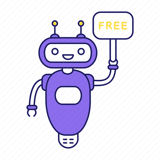 assistant, chat bot, chatbot, free, helper, robot, speech bubble icon