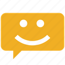 accept, chat, customer care, favorite, good, happy, yes icon