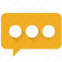 bubble, chat, contact us, email, message, notification, think icon