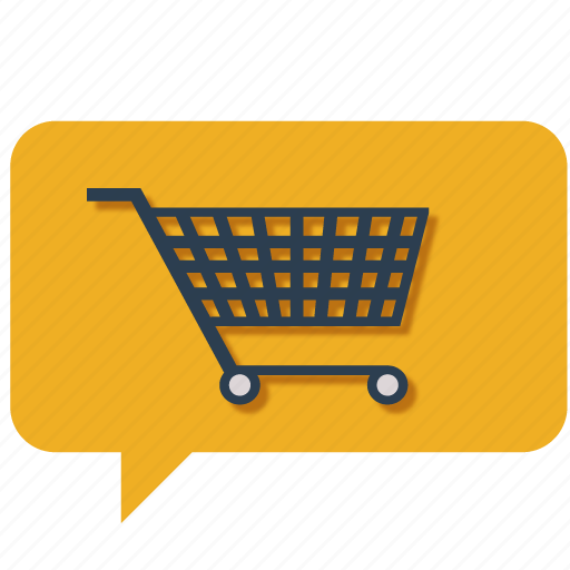 basket, buy, cart, chat, communication, customer care, shopping cart icon