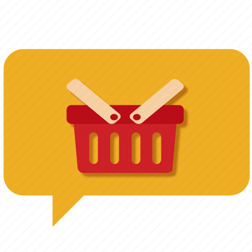 basket, cart, chat, customer care, message, shopping basket, support icon