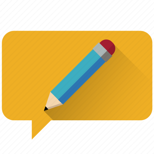chat, communication, customer care, design, edit, message, pencil icon